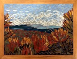 Donna Mayeur View From Jocassee Glass Mosaic  NFS