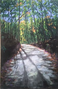 Fred Edgerton  Early Light Over little Stakey Mountain Acrylic  $1200