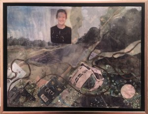 Fred Wood  Sanctification Encaustic Collage  NFS