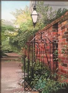 James Sarver The gate Acrylic  NFS