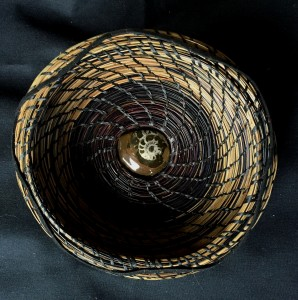 Dorothy Meredith Ammonite Basket Pine Needles  $125