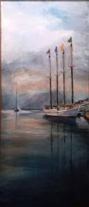 Michael Cad Bar Harbor Reflections Oil $1000