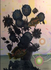 Steve Garner Summer Bouquet Watermedia  $975 Merit Award