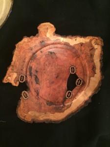 Warren Carpenter #17162 Cherry Burl with 5 Walnuts Wood  $800