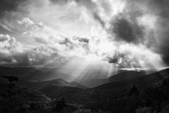"""Sunrays Over Blue Ridge Parkway"", Susan Stamey"