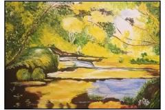 """""""Peaceful"""" by Veta Finch ~ Oil ~ $150"""