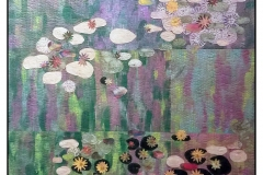 """""""My Water Lilies"""" by Jenice Belling ~ Art Quilt ~ Not for Sale"""