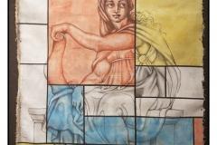 """""""Sibila/Mondrian"""" by Yeltza Diaz ~ Mixed Media ~ $1200"""