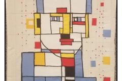 """Mondrian Portrait"" by Jean Kopczyk ~ Textile ~ $89"