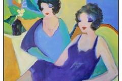 """""""Ode to Itzchak Tarkay"""" by Joy Kuby ~ Acrylic ~ $395"""
