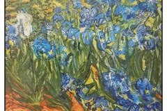 """My Irises"" by Marge Hendrix ~ Acrylic ~ $75"