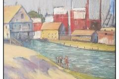 """Boston Waterfront"" by Brenda McLean ~ Pastel ~ $400"