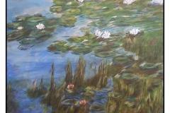 """Water Lilies 21 Fudgery"" by Laura Havran ~ Acrylic ~ $125"