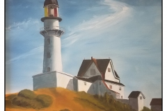 """""""The Lighthouse at Two Lights"""" by Scott MacInnis ~ Acrylic ~ Not for Sale"""