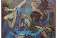 """""""Blue Dancers"""" by Martha Driscoll ~ Acrylic ~ Not for Sale"""