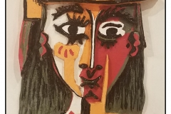 """""""After Picasso"""" by Linda Parsons ~ Clay ~ $200"""