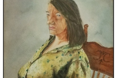 """""""Anna Christina"""" by Marion Fanning ~ Watercolor ~ $250"""