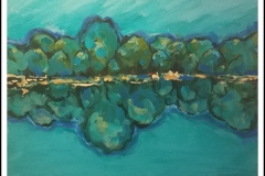 """""""Blue Tree Perspective"""" by Martha Driscoll ~ Acrylic ~ $150"""