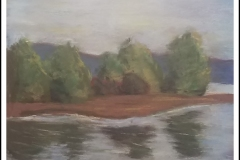 """""""Reflections on a Lake"""" by Suzette Cross ~ Pastel ~ Not for Sale"""