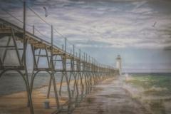 "Russell Carlson - ""Michigan Lighthouse"""