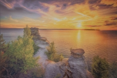 """Russell Carlson - """"Lake Superior Sunset"""""""